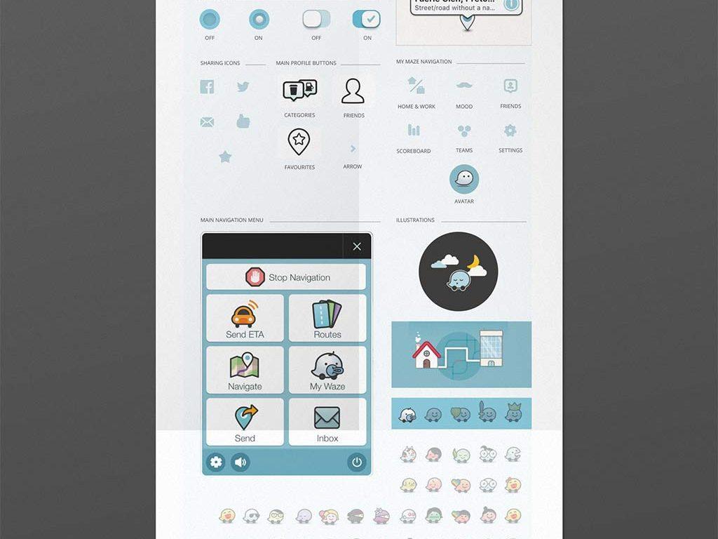 Waze-UI-Kit-(Mockup)